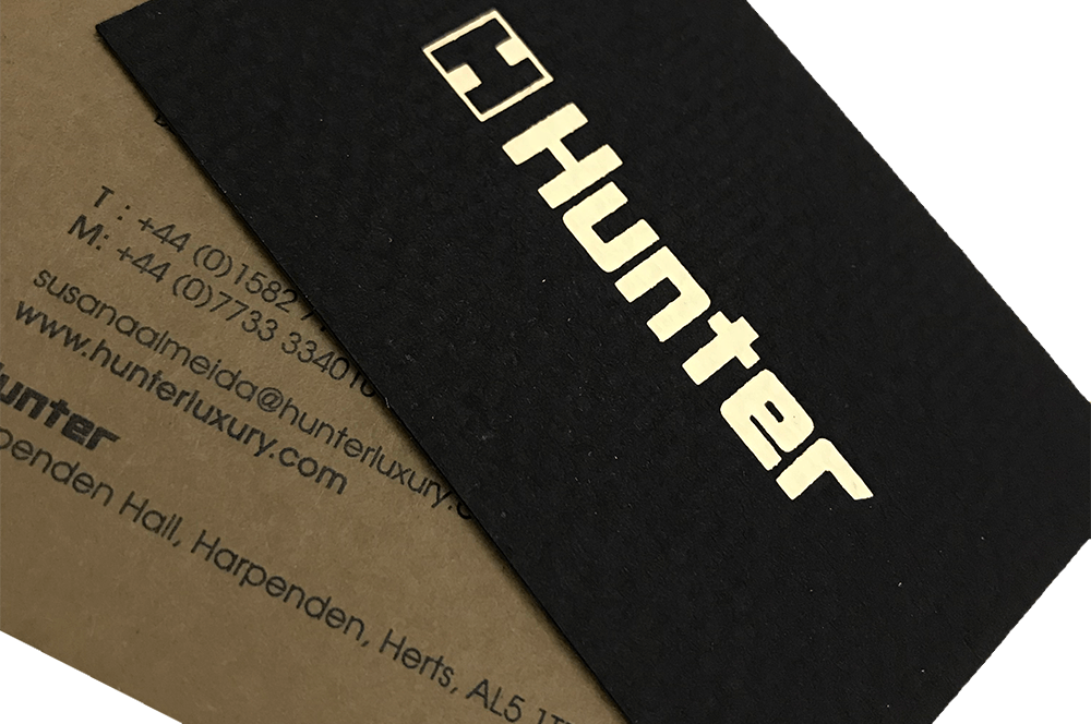 hunter business cards printed